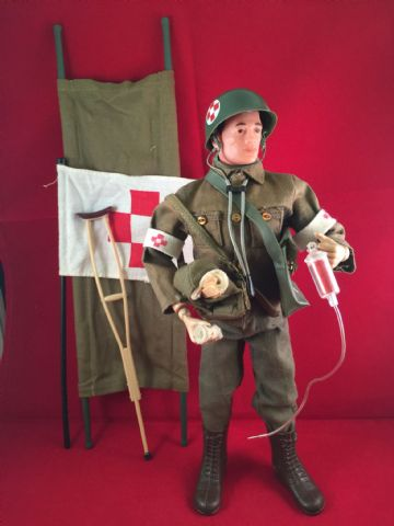 VINTAGE ACTION MAN - ARMY MEDIC - 1960's (ref  25/2)
